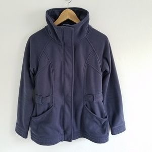 the North Face Ponte Fleece Full Zip Sweater Small